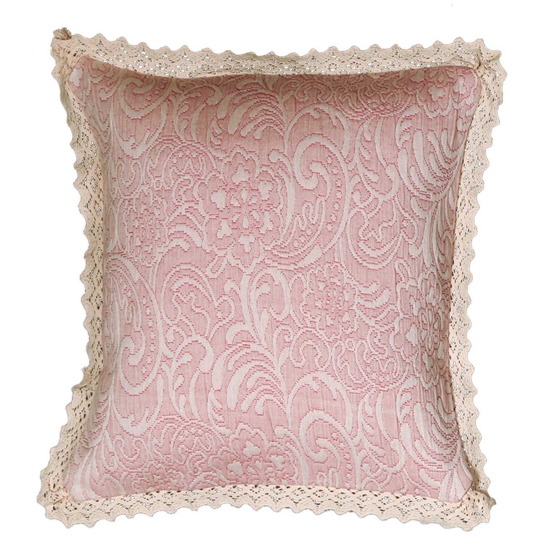 Μαξιλάρι Elisabeth Pink Nef-Nef 45X45 100% Βαμβάκι
