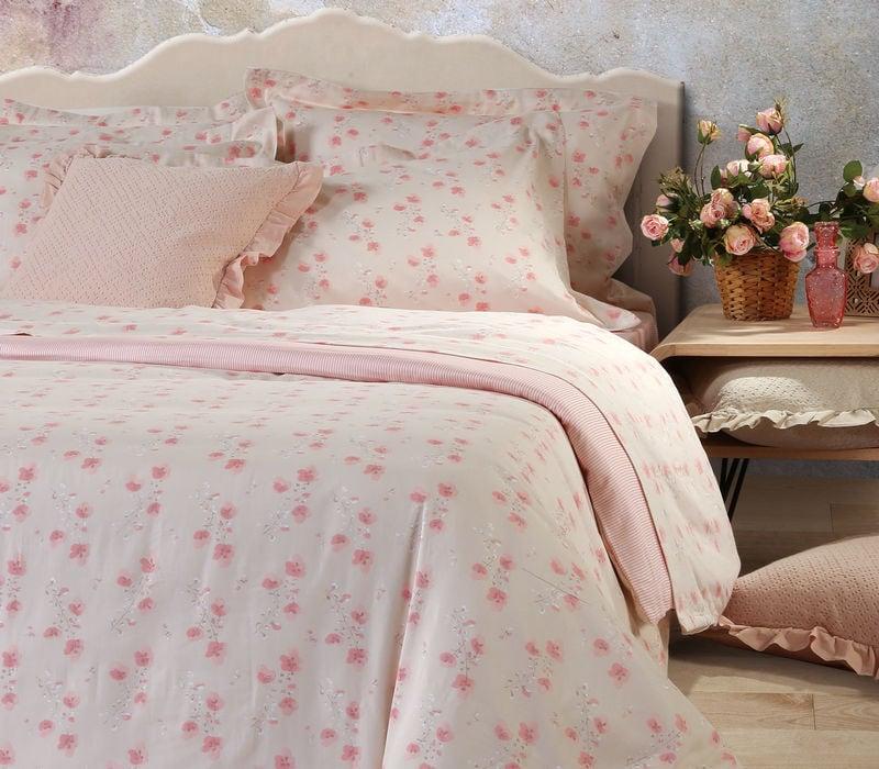 Παπλωματοθήκη Σετ 3τμχ. Petunia Pink Nef-Nef Υπέρδιπλo 240x230cm