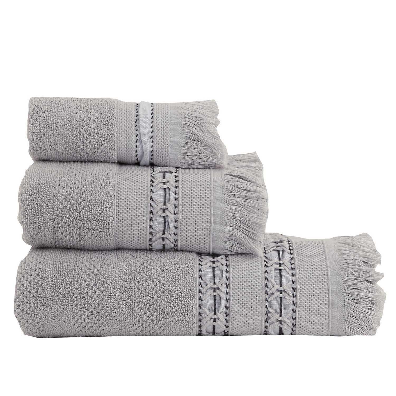 Πετσέτα Σετ 3 Τεμ. Adiland Grey Nef-Nef Σετ Πετσέτες