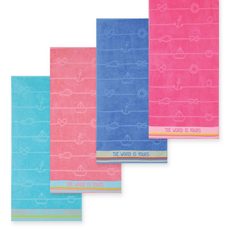 Πετσέτα The World Is Yours Pink Nef-Nef Θαλάσσης 70x120cm