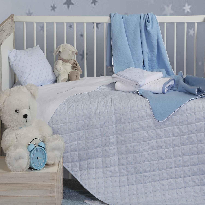 Σεντόνι Σετ 3τμχ Dream & Wishes Blue Nef-Nef Κούνιας 120x170cm