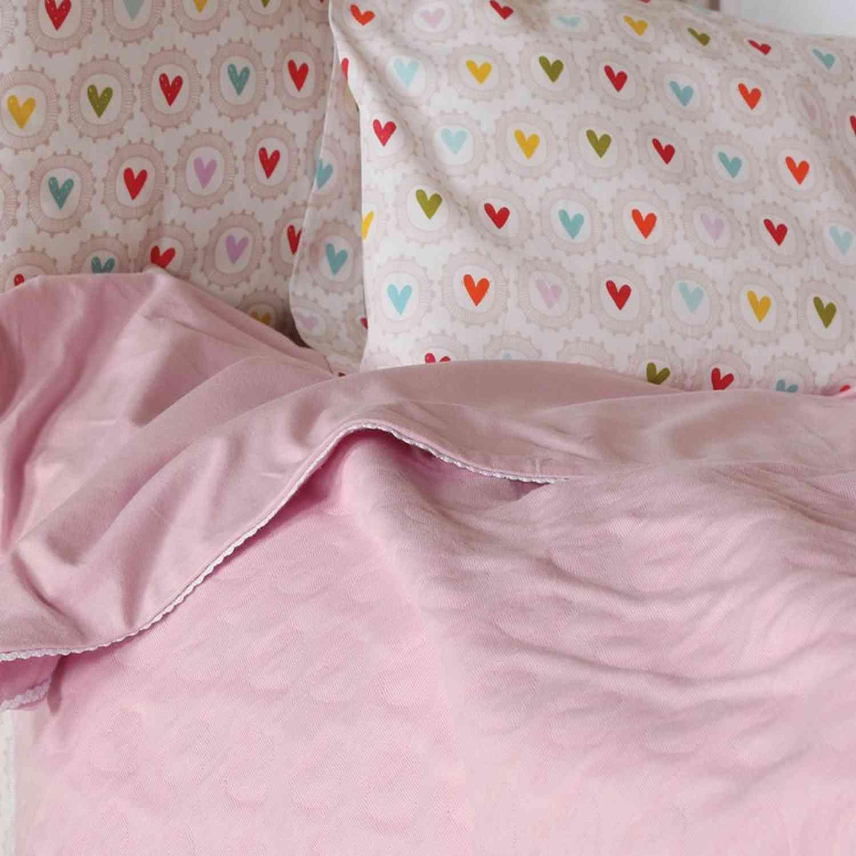 Κουβέρτα Cute Heart Pink Nef-Nef Κούνιας 110x150cm