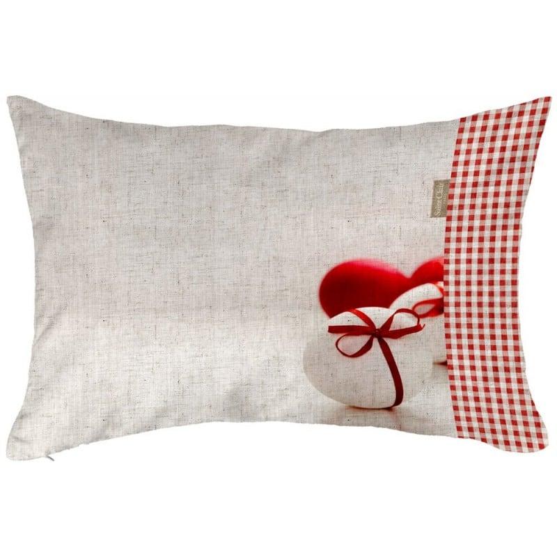 Μαξιλάρι Easter Cushion 03 Με Γέμιση White-Red Saint Clair 30Χ50 100% Polyester