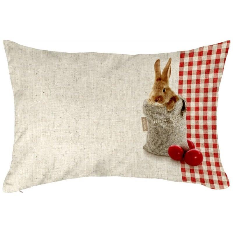 Μαξιλάρι Easter Cushion 04 Με Red-Beige Γέμιση Saint Clair 30Χ50 100% Polyester