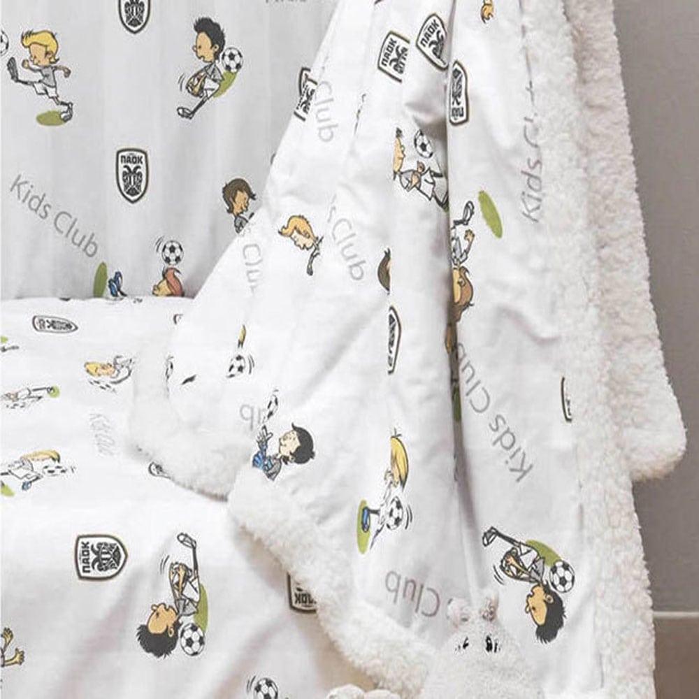 Κουβέρτα Βρεφική Paok 06 Kentia Αγκαλιάς 80x100cm
