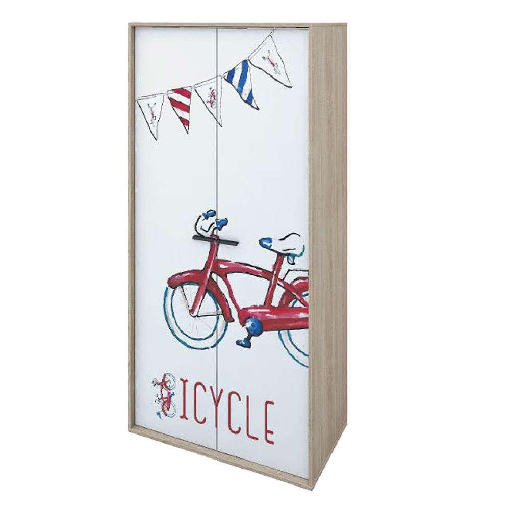 Ντουλάπα Παιδική Bicycle 06-0062 90x50xH190cm Sonoma Δίφυλλη