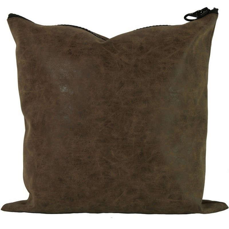 Μαξιλάρι Διακοσμητικό (Με Γέμιση) 06-0279 Brown 40Χ40 Δέρμα