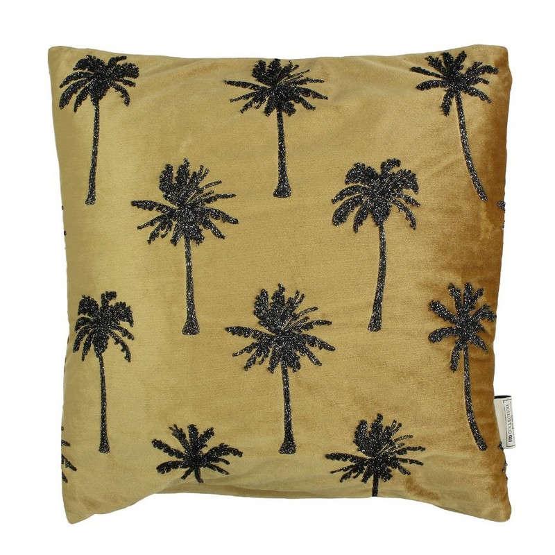 Μαξιλάρι Διακοσμητικό (Με Γέμιση) Palm Tree 06-3031 Gold-Black 45X45 Βελούδο