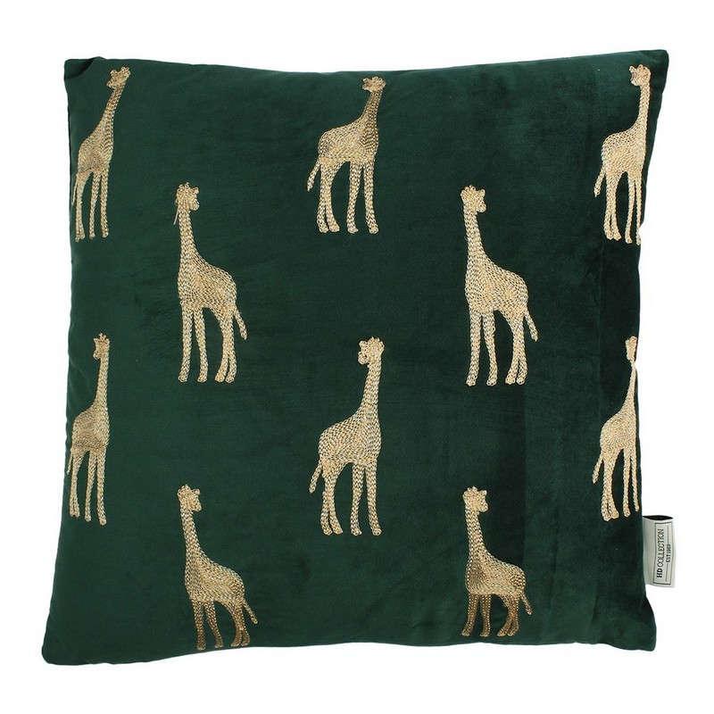 Μαξιλάρι Διακοσμητικό (Με Γέμιση) Βελούδινο Giraffe 06-3032 Gold-Green 45X45 Βελούδο