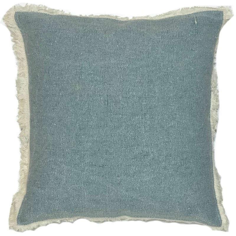 Μαξιλάρι Διακοσμητικό (Με Γέμιση) Πετροπλυμένο 06-0449 Turquoise 45X45 100% Βαμβάκι