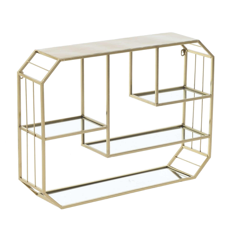 Ραφιέρα Τοίxου Μεταλλική 3-50-255-0005 Gold 75x15x55 Inart