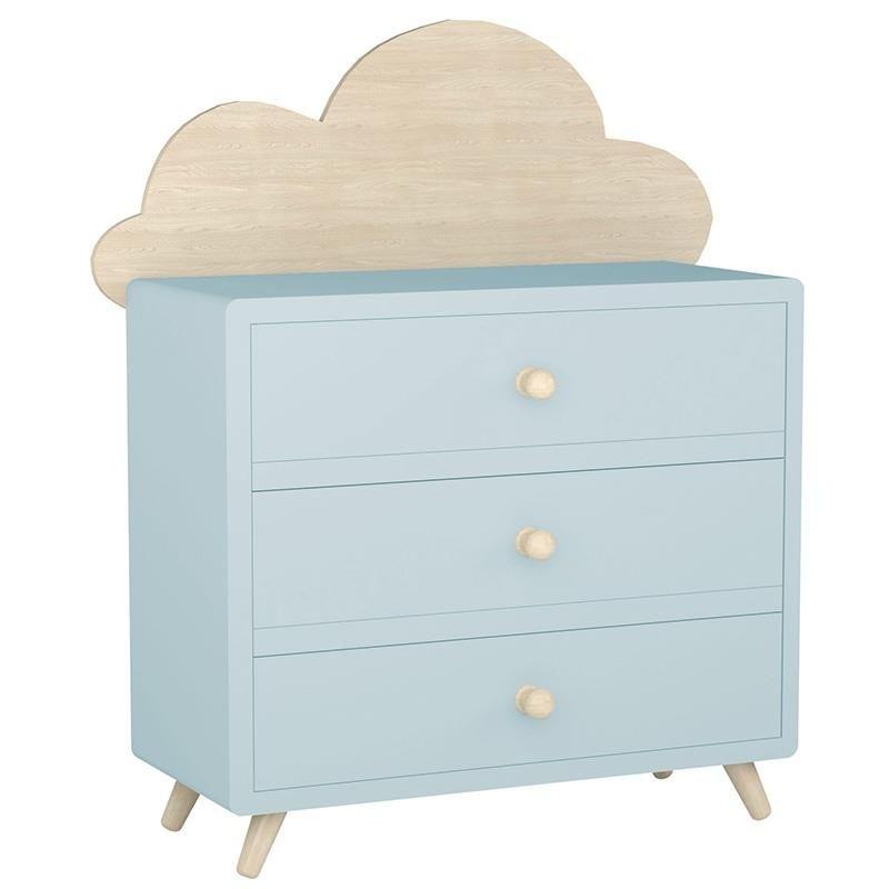 Συρταριέρα Παιδική Σύννεφο Ξύλινη 3-50-876-0005 Light Blue-Natural 85X32X80 Inart