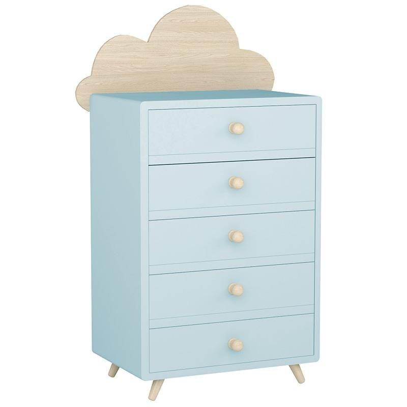 Συρταριέρα Παιδική Σύννεφο Ξύλινη 3-50-876-0006 Light Blue-Natural 50X32X121 Inart