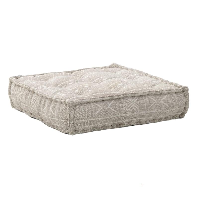 Μαξιλάρι Διακοσμητικό Δαπέδου (Με Γέμιση) 7-40-122-0006 Ecru Inart 80X80 100% Polyester