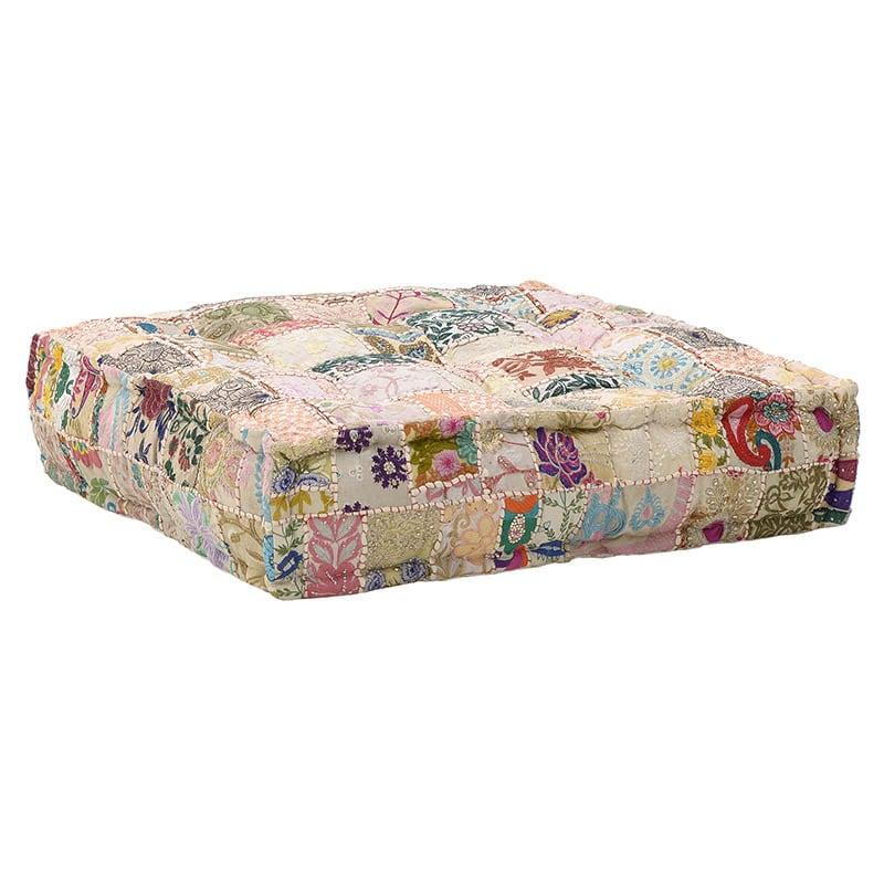 Μαξιλάρι Διακοσμητικό Δαπέδου (Με Γέμιση) 7-40-122-0015 Multicolor Inart 80X80 100% Polyester