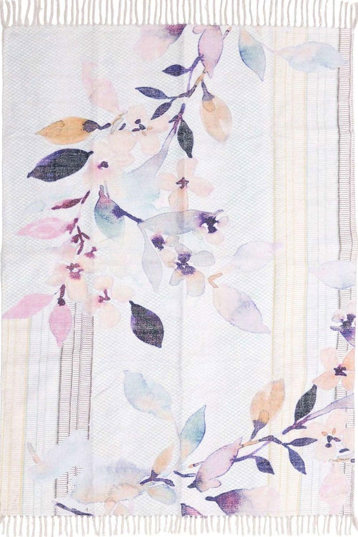 Χαλί Υφασμάτινο 3-35-336-0002 Floral Multi Inart 100X200