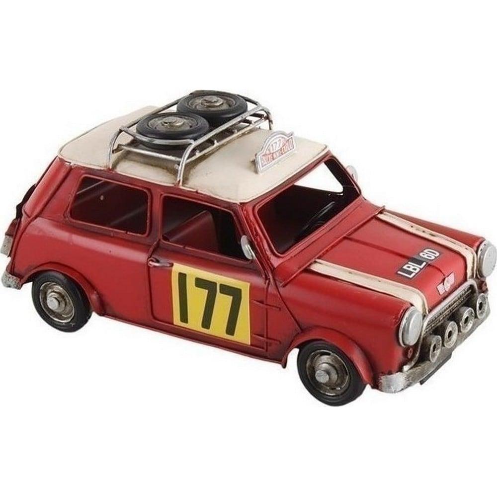 Διακοσμητικό Επιτραπέζιο Αυτοκίνητο Mini 3-70-726-0096 Red 28X14X14 Inart Μέταλλο