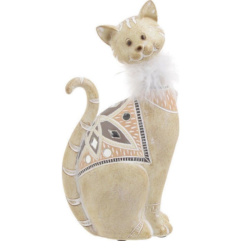 Διακοσμητικό Επιτραπέζιο Γάτα 3-70-547-0711 Ecru 12Χ6,5Χ23 Inart Polyresin