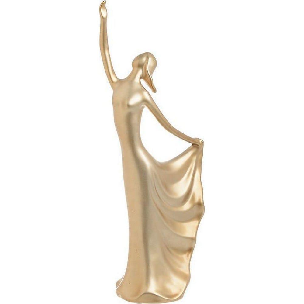 Διακοσμητικό Επιτραπέζιο 3-70-320-0029 Γυναικεία Φιγούρα Gold 13Χ10Χ41 Inart Κεραμικό
