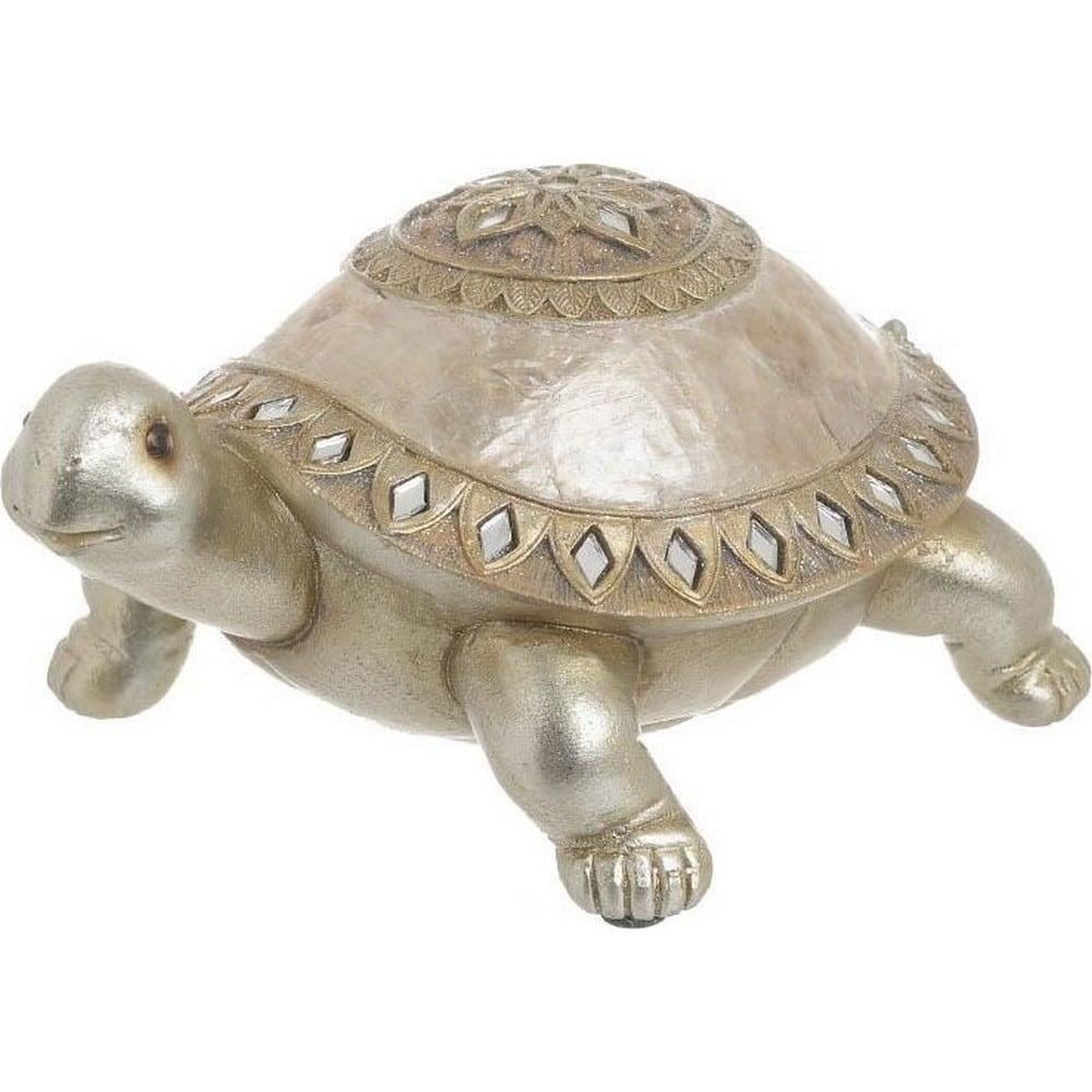 Διακοσμητικό Επιτραπέζιο 3-70-547-0626 Χελώνα Gold 17,5Χ12Χ8,5 Inart Polyresin