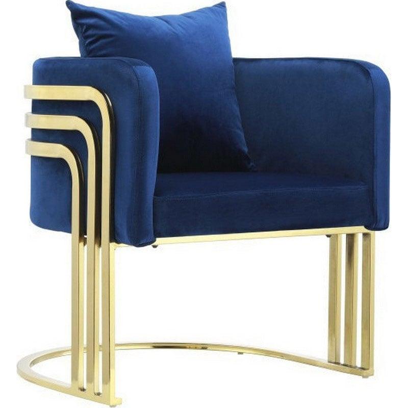 Πολυθρόνα Βελούδινη 55Χ65Χ68 Blue 3-50-542-0004 Inart