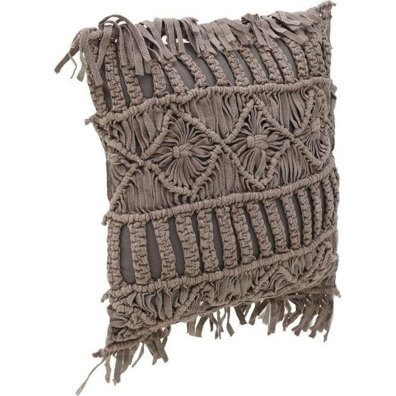 Μαξιλάρι Διακοσμητικό (Με Γέμιση) Macrame 3-40-419-0013 Beige Inart 40Χ40 Ύφασμα
