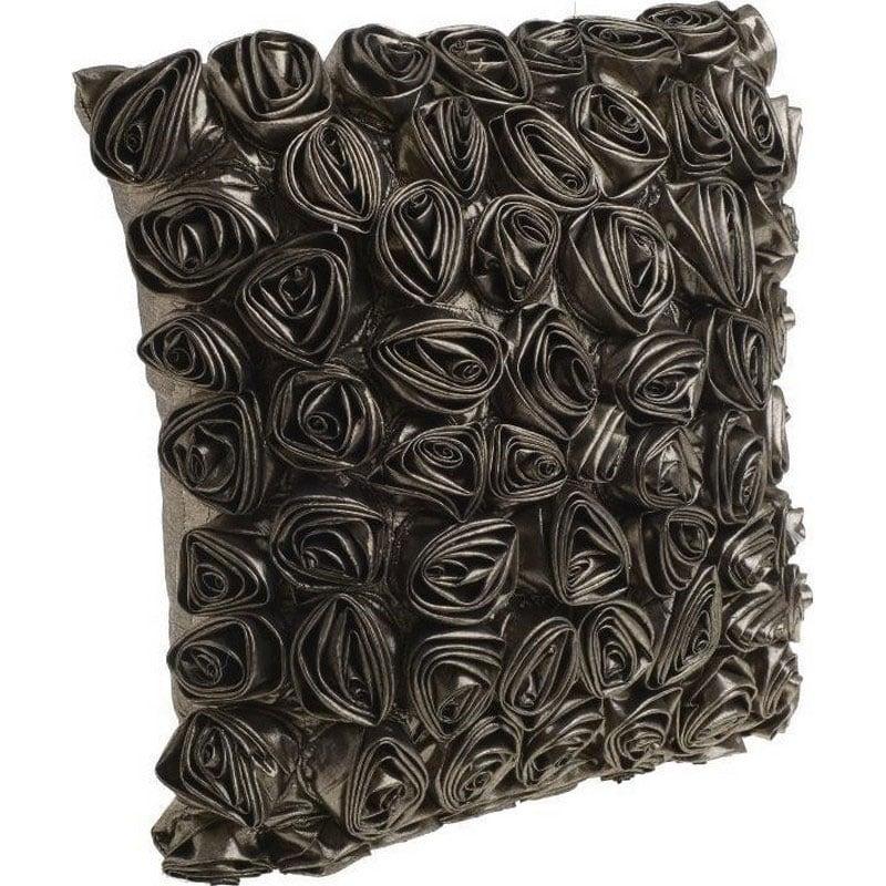 Μαξιλάρι Διακοσμητικό (Με Γέμιση) Ανάγλυφο Λουλούδια 3-40-947-0010 Silver Inart 45X45 Ύφασμα