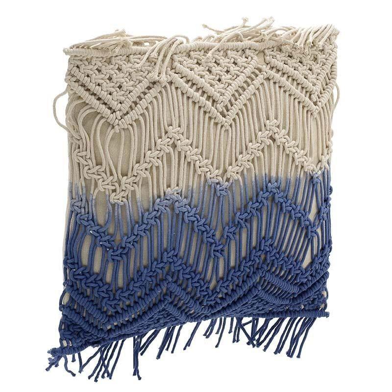 Μαξιλάρι Διακοσμητικό (Με Γέμιση) 3-40-419-0010 White-Blue Inart 45X45 100% Βαμβάκι
