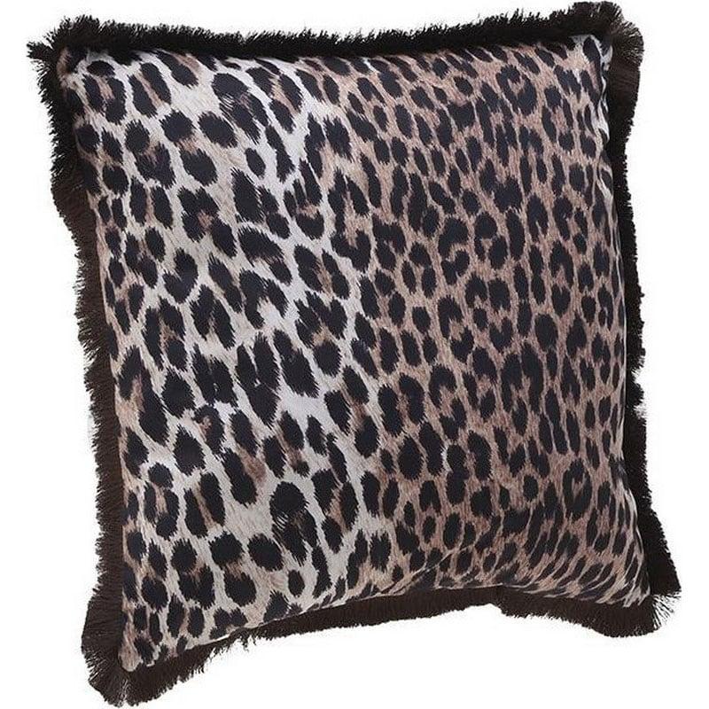 Μαξιλάρι Διακοσμητικό (Με Γέμιση) Βελούδινο 3-40-298-0008 Black-Brown Inart 50X50 Βελούδο