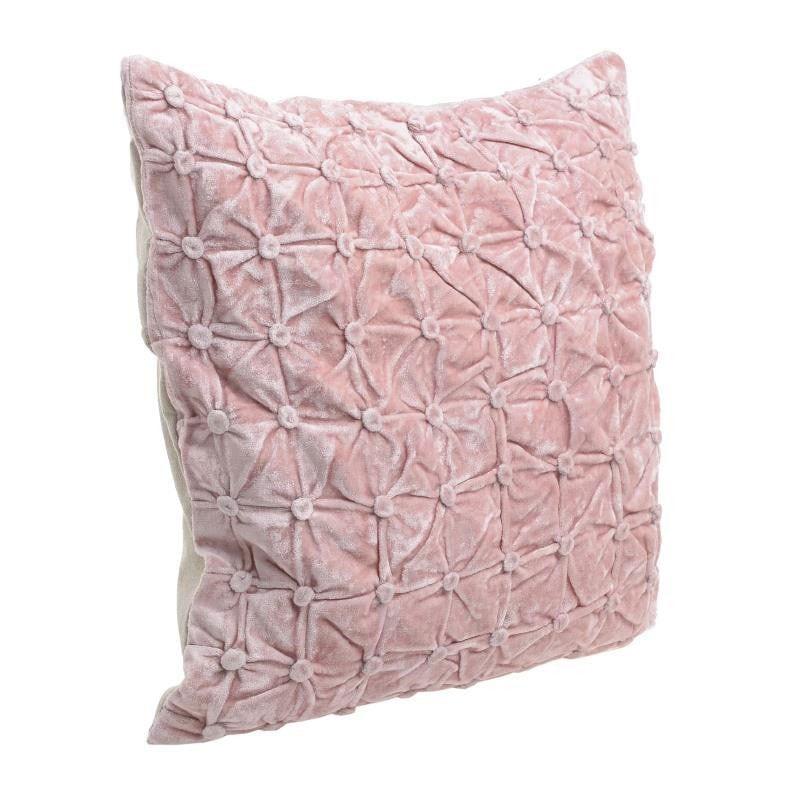 Μαξιλάρι Διακοσμητικό (Με Γέμιση) 3-40-803-0202 Pink Inart 45X45 Ύφασμα