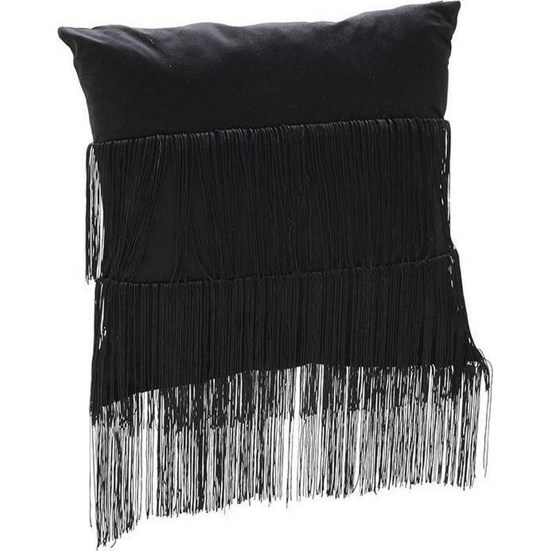 Μαξιλάρι Διακοσμητικό (Με Γέμιση) 3-40-208-0075 Black Inart 45X45 Ύφασμα