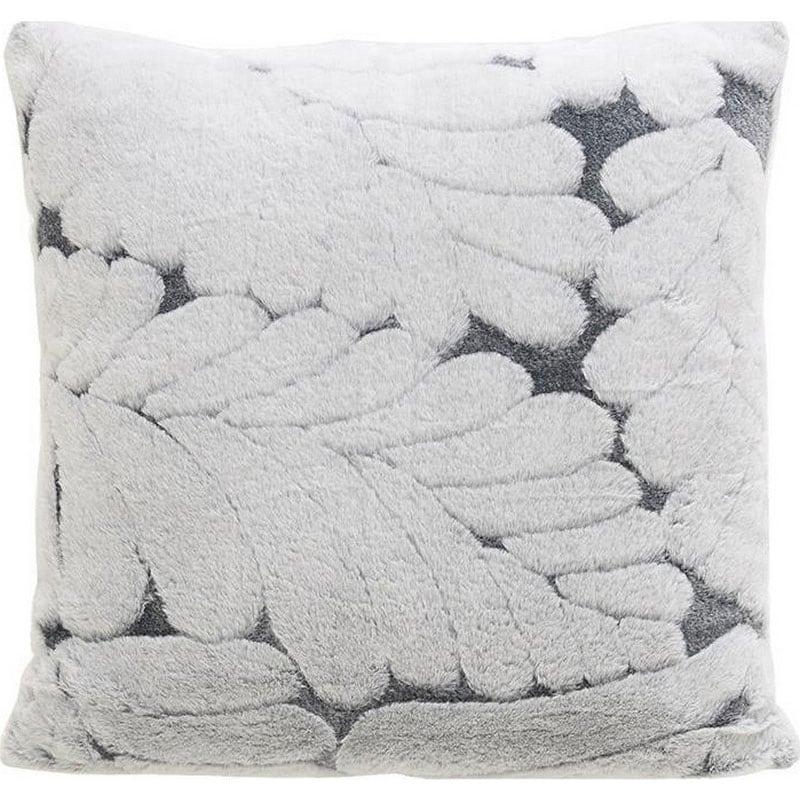 Μαξιλάρι Διακοσμητικό (Με Γέμιση) Συνθετική Γούνα 3-40-575-0443 Grey Inart 60X60 Γούνα