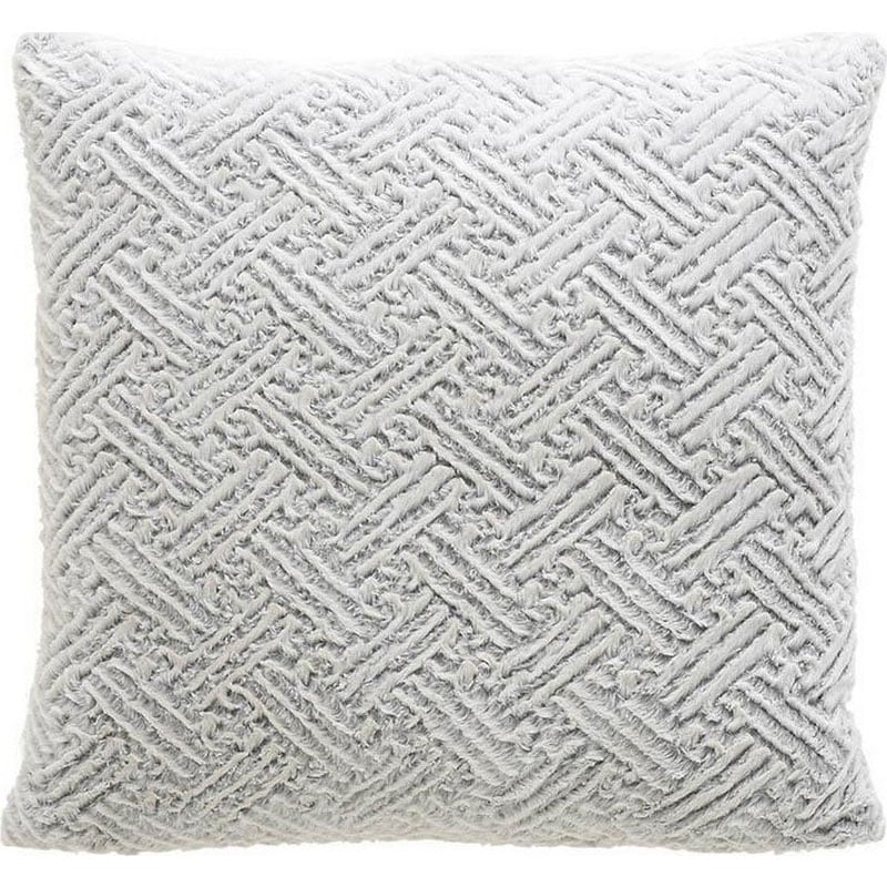 Μαξιλάρι Διακοσμητικό (Με Γέμιση) Συνθετική Γούνα 3-40-575-0449 Grey Inart 60X60 Γούνα