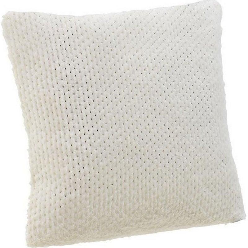 Μαξιλάρι Διακοσμητικό (Με Γέμιση) Συνθετική Γούνα 3-40-575-0417 White Inart 40Χ40 Γούνα