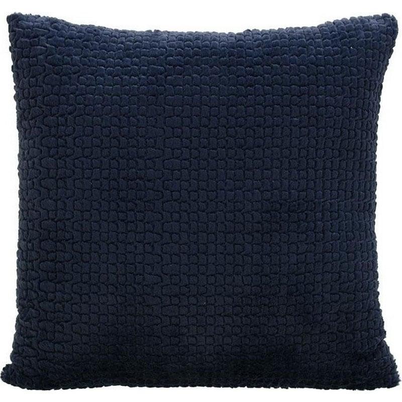 Μαξιλάρι Διακοσμητικό (Με Γέμιση) Συνθετική Γούνα 3-40-575-0458 Blue Inart 60X60 Γούνα