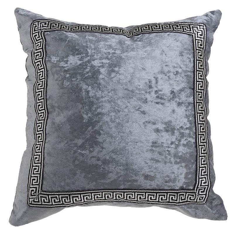 Μαξιλάρι Διακοσμητικό (Με Γέμιση) 3-40-151-0008 Grey Inart 45X45 Ύφασμα