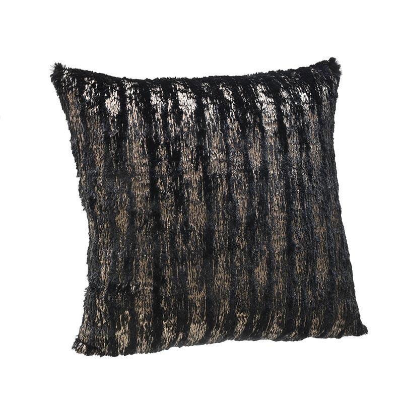 Μαξιλάρι Διακοσμητικό (Με Γέμιση) 3-40-208-0079 Black-Gold Inart 45X45 Ύφασμα