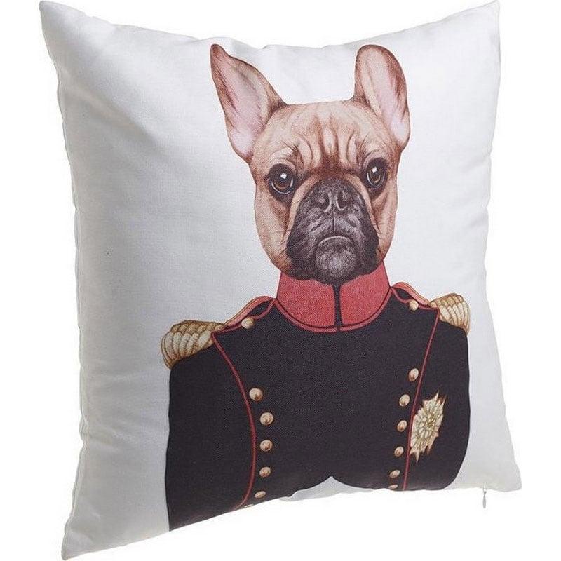 Μαξιλάρι Διακοσμητικό (Με Γέμιση) Σκύλος 3-40-865-0132 Multi Inart 40Χ40 Ύφασμα