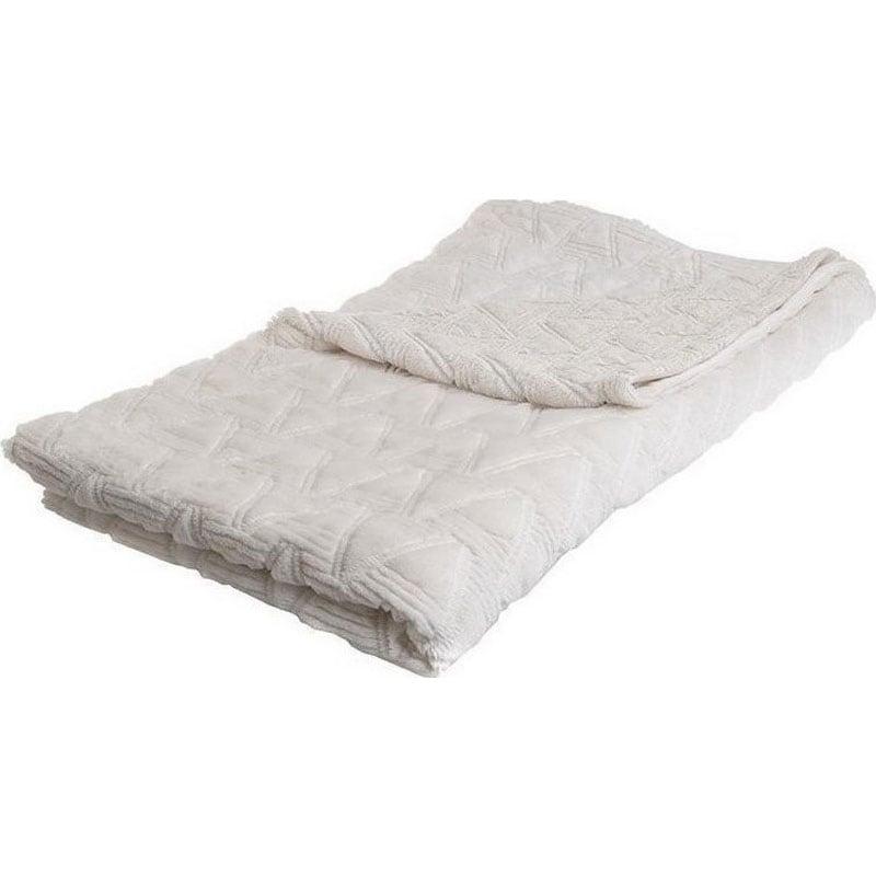 Ριχτάρι Συνθετική Γούνα 3-40-575-0400 White Inart Πολυθρόνα 150x180cm