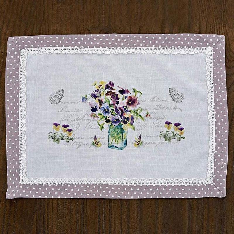 Σουπλά Λουλούδι 3-40-449-0008 Purple Inart 45x33cm
