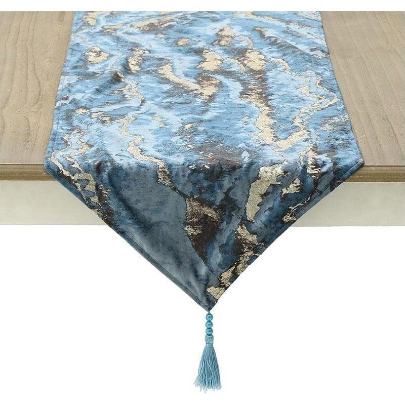 Τραβέρσα 3-40-208-0102 Blue Inart 40Χ150 40x140cm