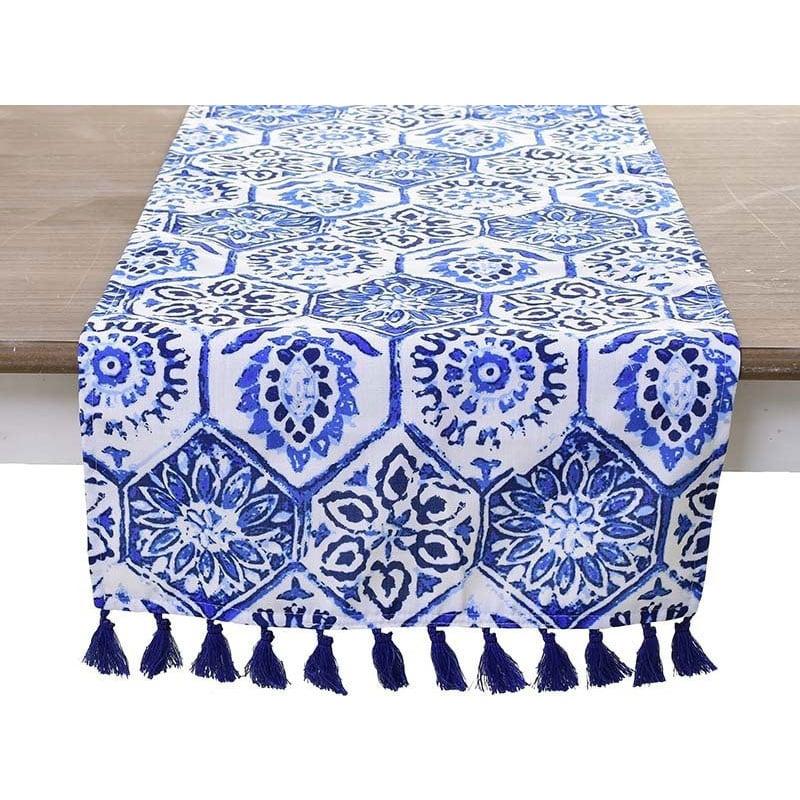 Τραβέρσα 3-40-086-0010 White-Blue Inart 40Χ150