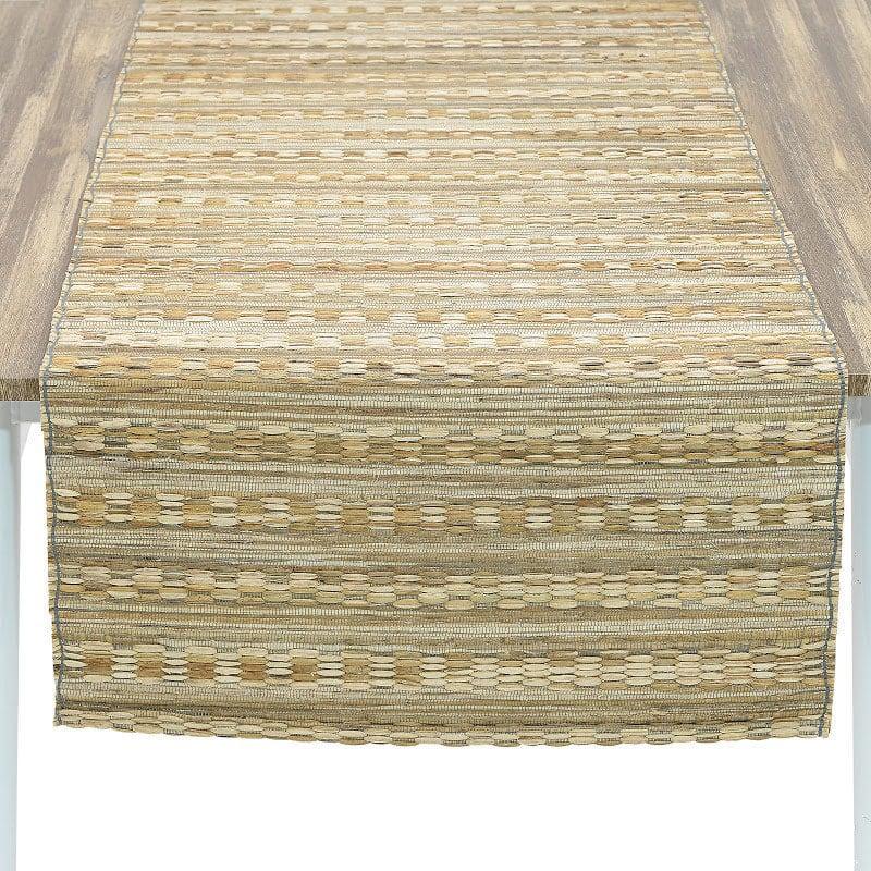 Τραβέρσα Ψάθινη 3-40-924-0004 Natural-Grey Inart 40Χ150 40x150cm