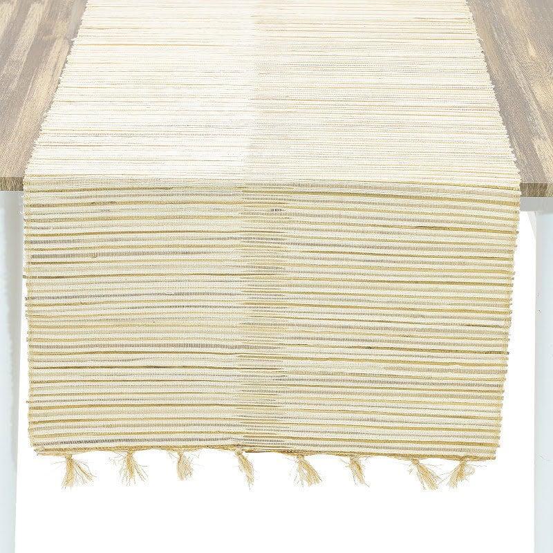 Τραβέρσα Ψάθινη 3-40-924-0005 Gold-Ecru Inart 40Χ150 40x150cm