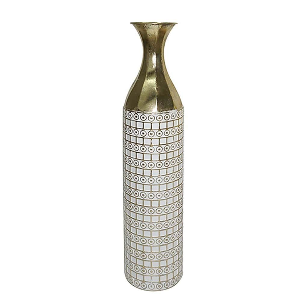 Βάζο 3-70-915-0054 Δ18Χ84 Gold-White Inart Μέταλλο