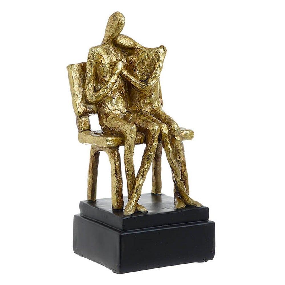 Διακοσμητική Φιγούρα Ζευγάρι 3-70-151-0269 10X10X24 Gold-Black Inart Polyresin