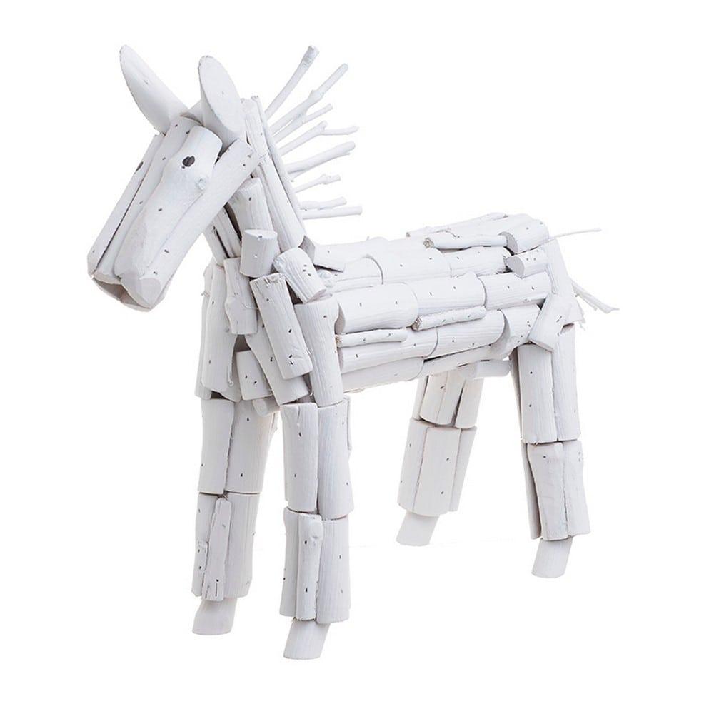 Διακοσμητικό Επιτραπέζιο 3-70-585-0006 46X16X37 Άλογο White Inart Ξύλο