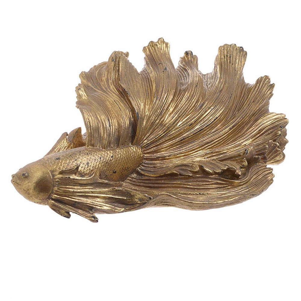 Διακοσμητικό 3-70-446-0027 Ψάρι 33Χ20Χ13 Gold Inart Polyresin