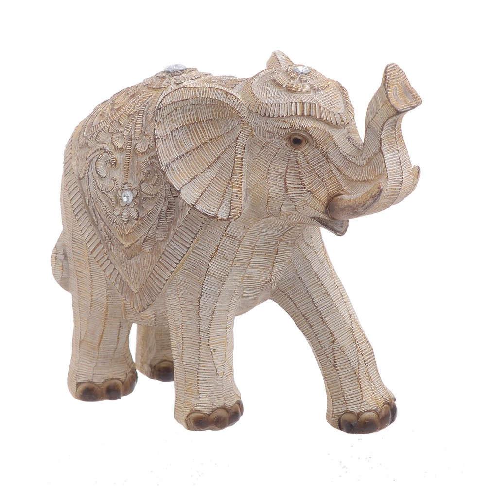 Ελέφαντας 3-70-107-0036 Ecru 20Χ9Χ18 Inart Polyresin