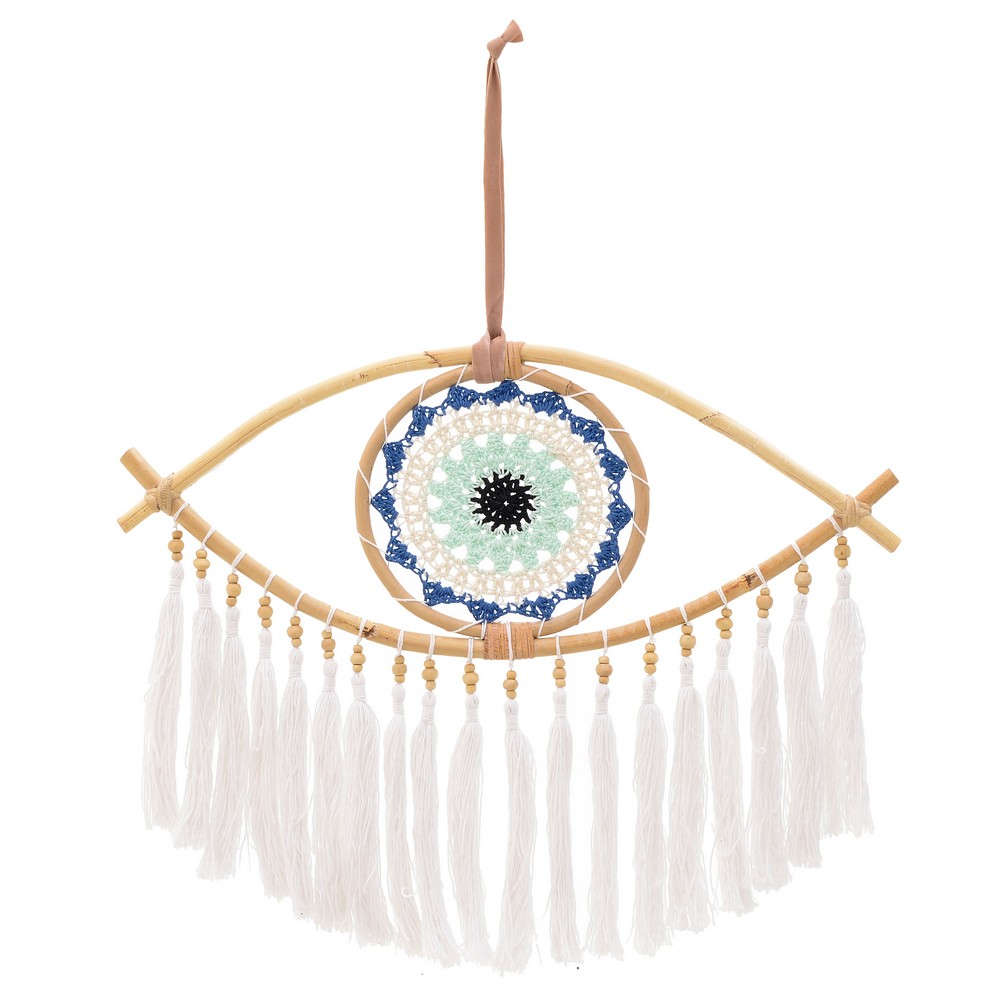 Ονειροπαγίδα Μάτι 3-70-047-0013 45Χ35-50 Natural-White Inart 100% Βαμβάκι
